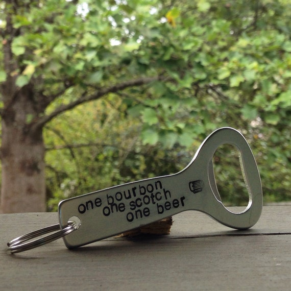items similar to personalized bottle opener keychain on etsy. Black Bedroom Furniture Sets. Home Design Ideas