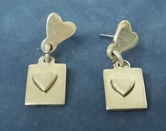 Vintage Antique Pair .925 Sterling Silver Earrings, 5.87g #E951