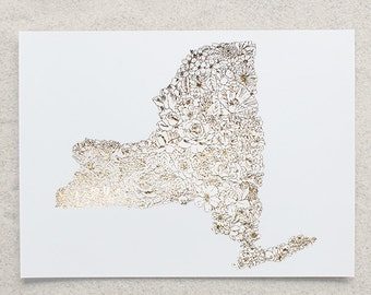 Botanical New York Foil Print