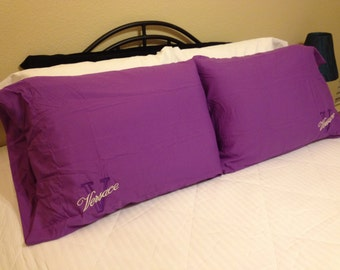 Versace Inspired Embroidered Logo Pillow Cases Only