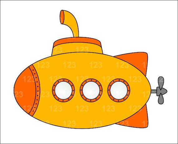 Cute Submarine Clipart Cute Yellow Submarine Single
