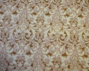 Brown & Tan 'Royal' Design Fabric  410