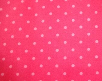 David Textiles Dark Pink w/Light Pink Polka Dot Fabric s 358