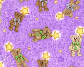 SPX Fabrics Boyds Bears Coordinates in Purple