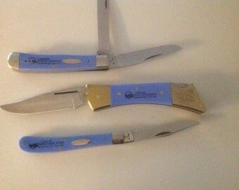 Case knife set of 3. Louisiana exposition New Orleans November 11,1984