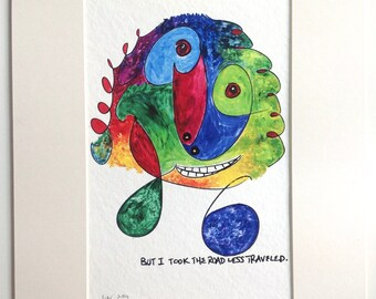 """11"""" x 14"""" Wall Art  Funny  Sweetly delusional  Beautiful range of colors  Happy  Sweet  Loveable.  Great Teeth"""