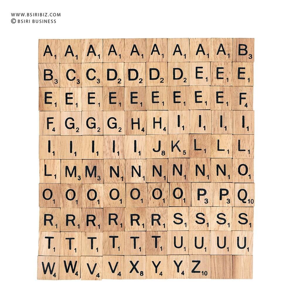 Bulk wooden scrabble tiles letter alphabet for jewelry for Bulk letters