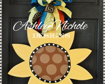 SHIPS NOW!! Sunflower Door Hanger, Door Decoration,  Fall Wreath