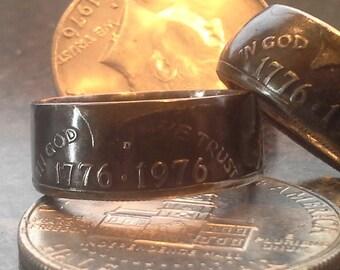 Kennedy 1776-1976 Half Dollar Ring