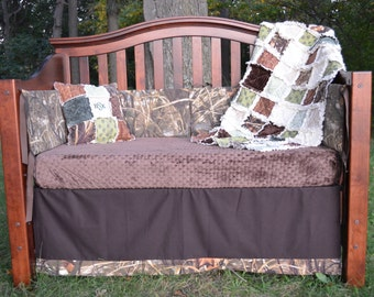 BUCKS, TRACKS & RUBS™ Custom Baby Bedding and Nursery Sets - hunting baby bedding, camo baby bedding, deer baby bedding