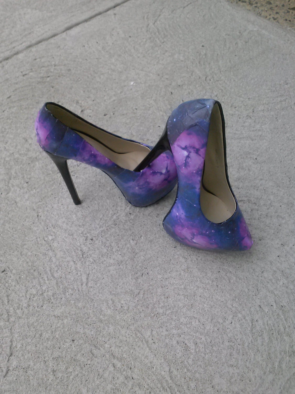 Unique Purple Heels