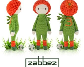 "Crochet pattern amigurumi doll ""Ranunculus Ronan"" PDF"