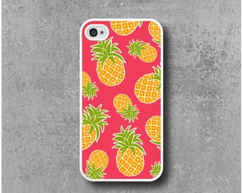 Case iPhone 4 / 4s Pink Pineapple