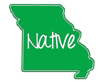 Missouri Native Vinyl Sticker Car Window Door Bumper Decal Pride MO