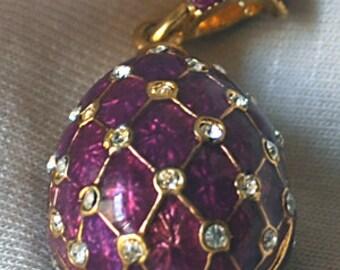 FAB18 Farberge pendant purple farberge pendant 12x18mm