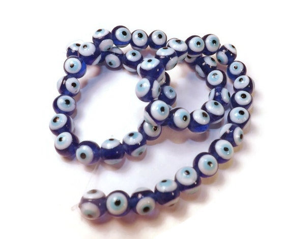 evil eye blue glass 10mm approx 40