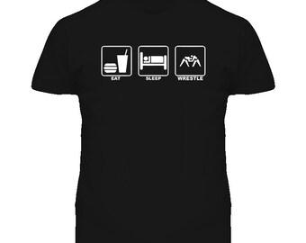 Eat Sleep Greco Roman Wrestling T Shirt