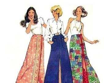 Simplicity 5024 Just the Prettiest Set of Skirts 1972 / WAIST12 UNCUT