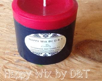 Natural Soy Wax Pillar Two-Tone Cinnamon