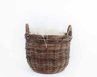 Newborn Prop Wicker Basket