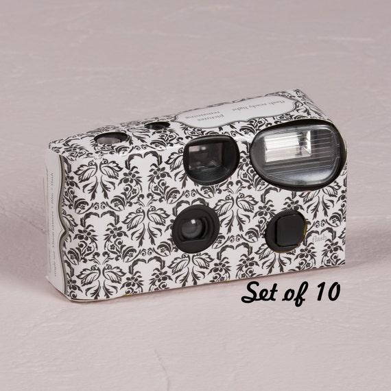 10 Disposable Cameras Wedding Favor Love Bird Cameras