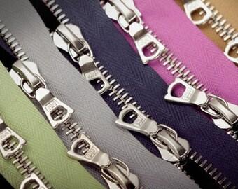 RIRI M6 Two Ways Zipper - Silver Teeth