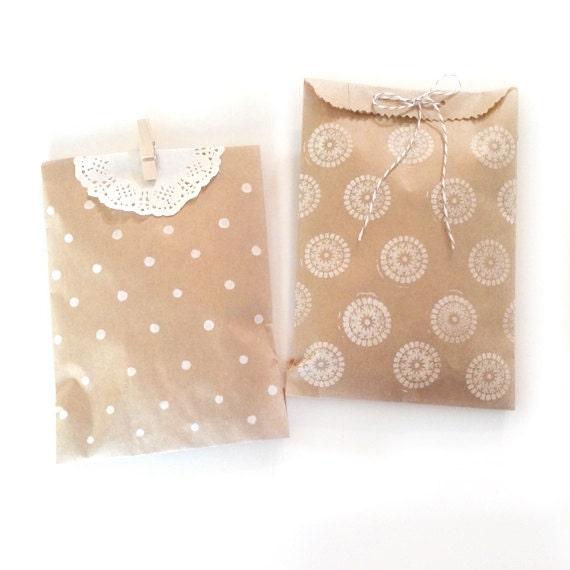 Wedding Favor Bags Paper : blank paper kraft bags treat bag wedding favor bags flat