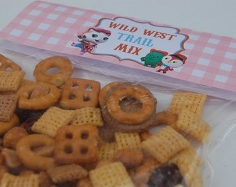Sheriff Callie's Wild West Treat Toppers - Party Favors , Templates (Instant Download)