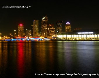 Tampa~ **Art**City**Unedited**Wall Art* *Office Art**Photography**Print**  **Decor**Design**Photographic Art** *Night Photo*River*Walk*
