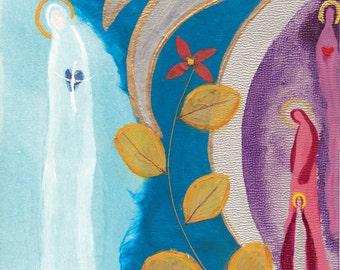 Prayer Panel 10. Christian Art PRINT