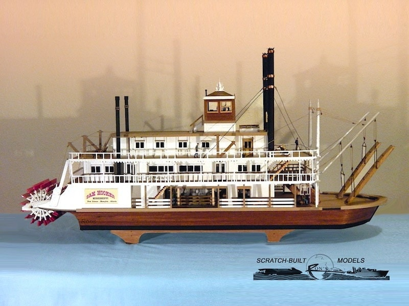 Mississippi River Boat Model Plans | Free Boat Plans TOP