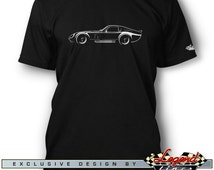 Daytona Coupe Replica T-Shirt for Men - Lights of Art - Multiple colors available - Size: S - 3XL - Great American AC Cobra Replica Gift