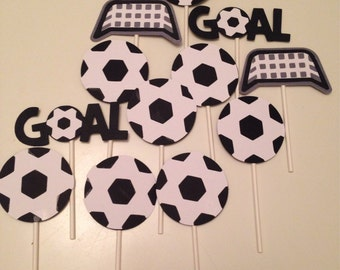 Soccer Cupcake Toppers (12count)