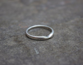 Delicate Indented Sterling Silver Ring