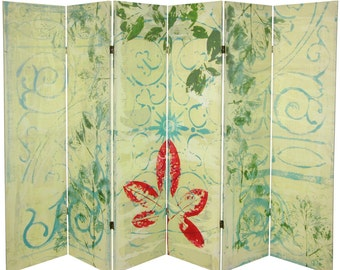 Canvas Room Divider Screen Garden Gate Collage Partition