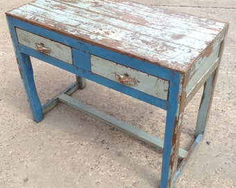 Vintage wooden desk from Rajasthan, India
