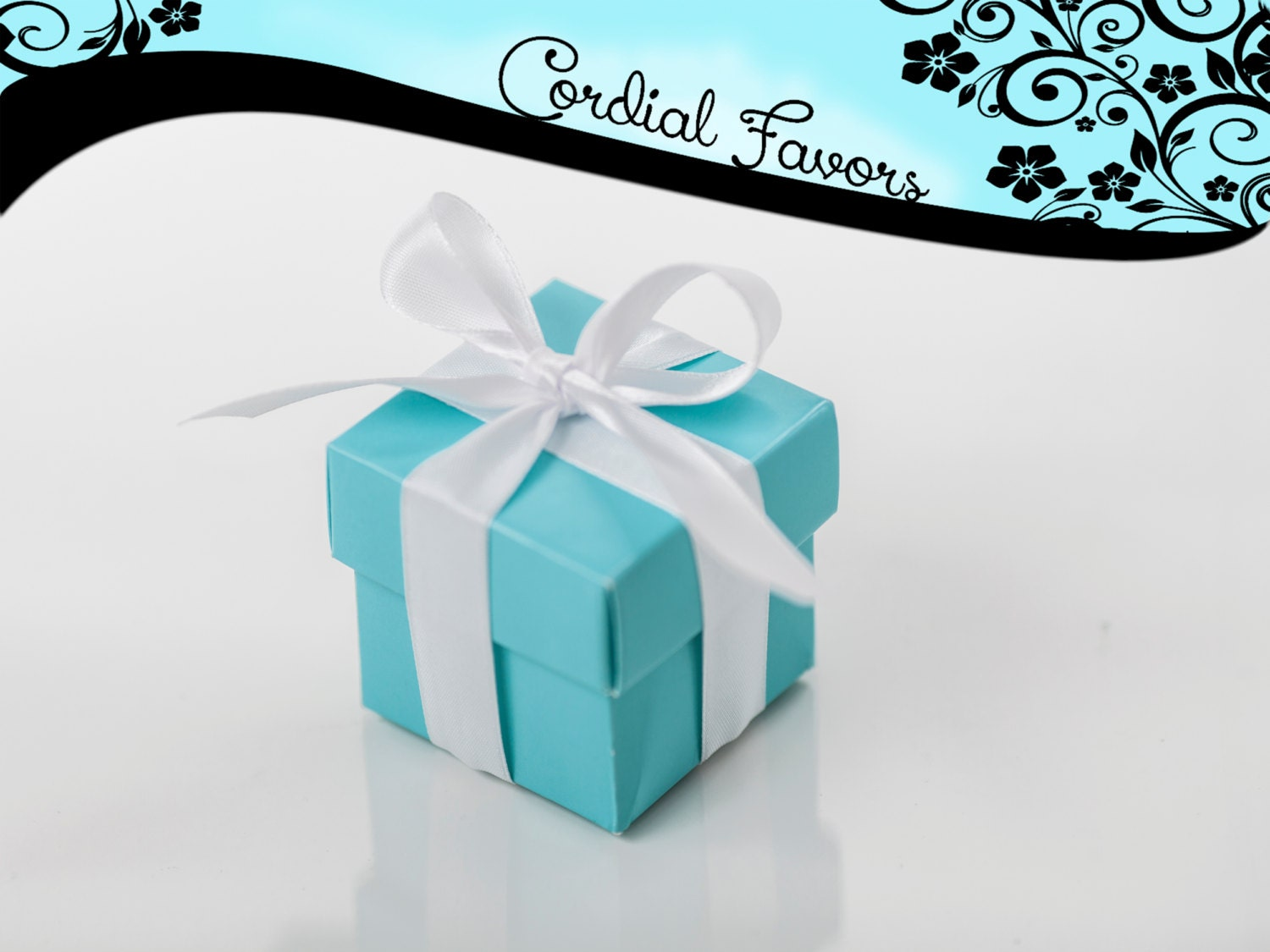 SALE Tiffany Blue Favor Box/gift box 20 with by CordialFavors