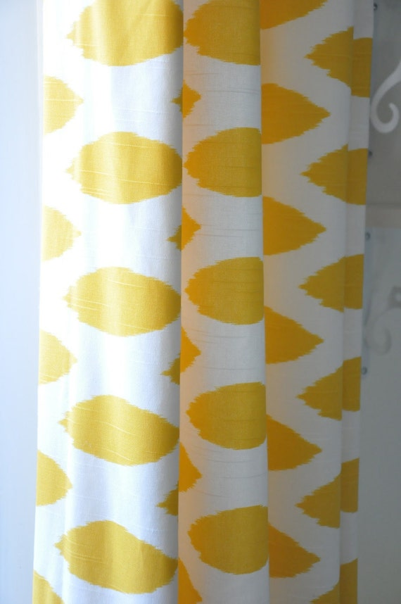 Items Similar To Chipper Corn Yellow Pair Of Curtains 24 L X Up To 120 Length Dinning Room