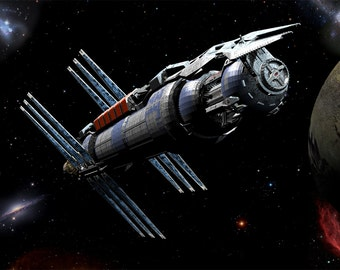 Babylon 5  Digital Art  Glossy Print  'Majestic B5'