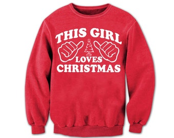 Ugly Christmas Sweater. Ugly Sweater. This Guy Loves Christmas! This Girl Loves Christmas!