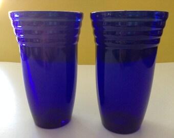 Cobalt Blue Glasses Set of Two