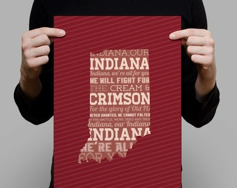 IU Fight Song Poster - Indiana - 12x18 and 8x10