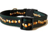 Halloween Candy Corn Adjustable Autumn Dog Collar
