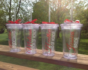 Personalized Tumblers - Great Vibes font