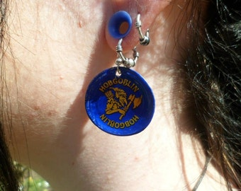 Upcycled Hobgoblin Bottle Cap Earrings