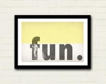 Fun Band Poster Nate Ruess Art Print 11 X 17 Vintage Design, Home Decor