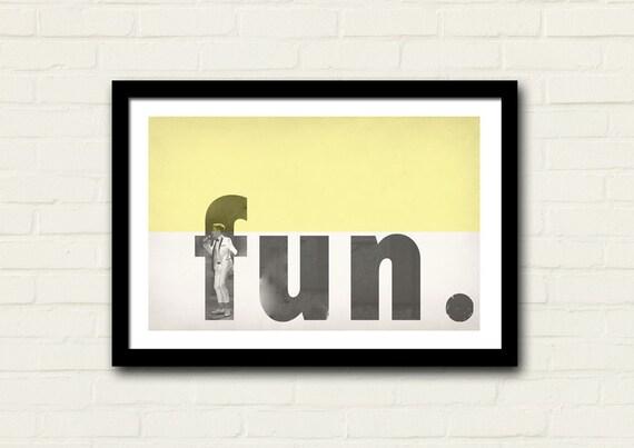 Fun Band Poster Nate Ruess Art Print 11 X 17 Vintage Design