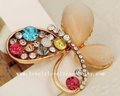 Diy phone case material crystal butterfly , bling iphone 5 diy case supplies diy iphone 5s case material