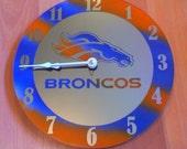 Denver Broncos Clock - Mirror