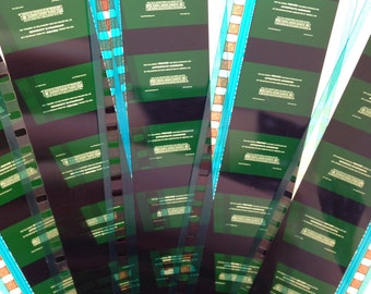 Movie Trailer Film Bookmarks: Green Preview Screen (10 count)